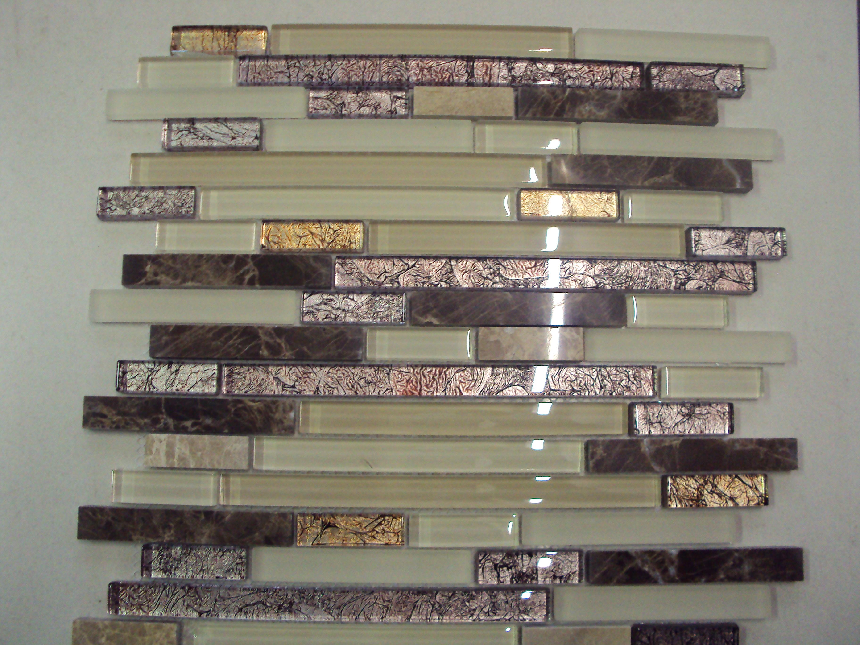 Malla vidrio persia strip 30x30 moro revestimientos for Guardas para cocina