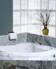 Angle bathtub / acrylic / whirlpool
