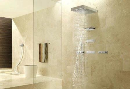 Ba o con cascada y ducha fija moro revestimientos - Ofertas sanitarios bano ...