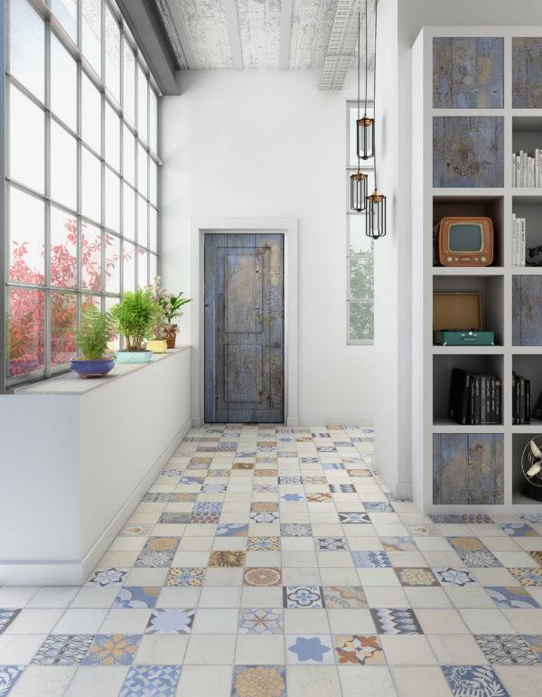 Quadrat decorado 45x45 moro revestimientos sanitarios for Ceramica porcelanato