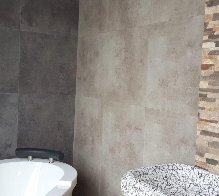 Bauhaus grey o brown 58x58 moro revestimientos sanitarios pisos porcelanatos ceramicos - Bauhaus griferia cocina ...